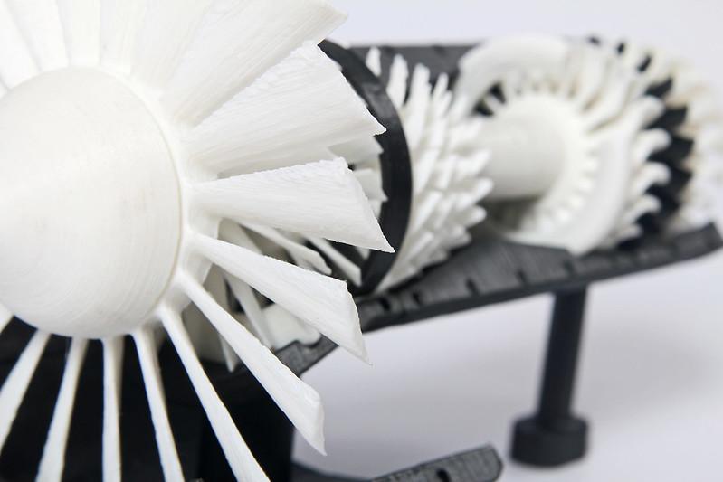 turbina wykonana z tworzywa sztucznego